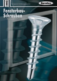 Fensterbau- Schrauben - E.u.r.o. Tec GmbH