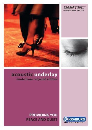 download our brochure - Damtec Acoustic Underlay