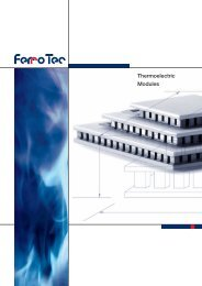 Thermoelectric Modules - FerroTec Europe
