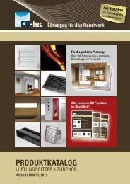 CB-tec GmbH | Produktkatalog 07/2012 | Version web - WGS