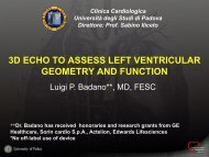 Assessment of LV geometry and function - European Society of ...