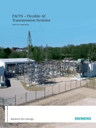 FACTS – Flexible AC Transmission Systems - Siemens Energy