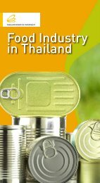 Food Industry in Thailand - Thailand Board of Investment