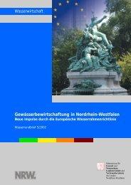 Gewässerbewirtschaftung in Nordrhein-Westfalen Neue Impulse ...