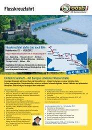 Flusskreuzfahrt ab/bis Linz nach Köln Reisetermin: 07. - Reisewelt