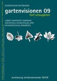 gartenvisionen 09 - Institut für Landschaftsarchitektur - Leibniz ...