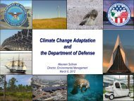 Climate Change Adaptation and the Department of Defense