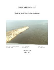 PAKISTAN FLOODS 2010 The DEC Real-Time Evaluation Report