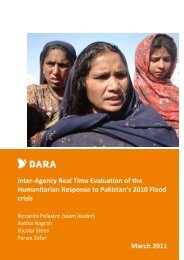 Inter-Agency Real Time Evaluation of the Humanitarian ... - OCHANet