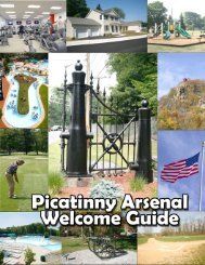 Welcome Guide - Picatinny Arsenal - U.S. Army