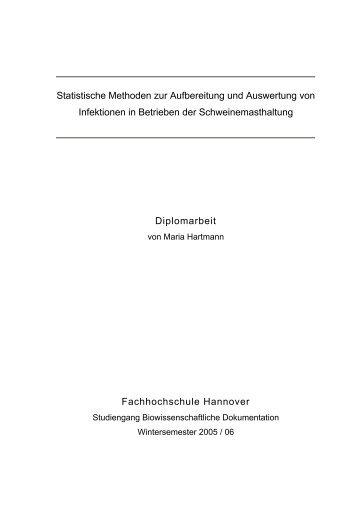 Statistische Methoden zur Aufbereitung und Auswertung von ...