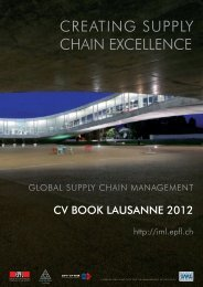 Executive Master in Global Supply Chain Management - IML - EPFL