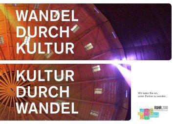 Wir laden Sie ein, unser Partner zu werden. - Ruhr 2010