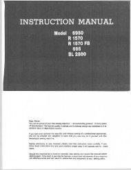 INSTRUCTION MANUAL - Riccar