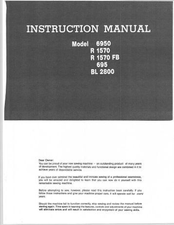 INSTRUCTION MANUAL - Riccar