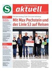 Mit Max Pechstein und der Linie S3 auf Reisen - S-Bahn Hamburg