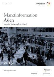 Marktinformation Asien - Germany Travel