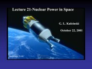 Lecture 21-Nuclear Power in Space