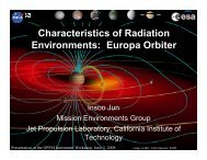 Characteristics of Radiation Environments: Europa Orbiter