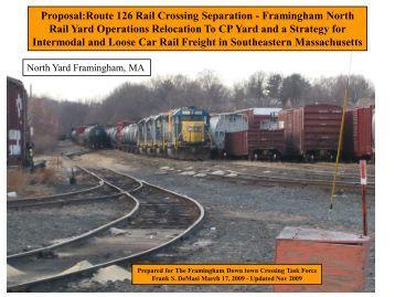 Proposal:Route 126 Rail Crossing Separation - Boston Metropolitan ...