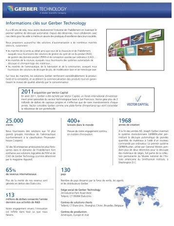 Télécharger les informations clés [PDF] - Gerber Technology