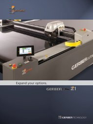 Expand your options. - Gerber Technology
