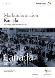 Marktinformation Kanada - Germany Travel
