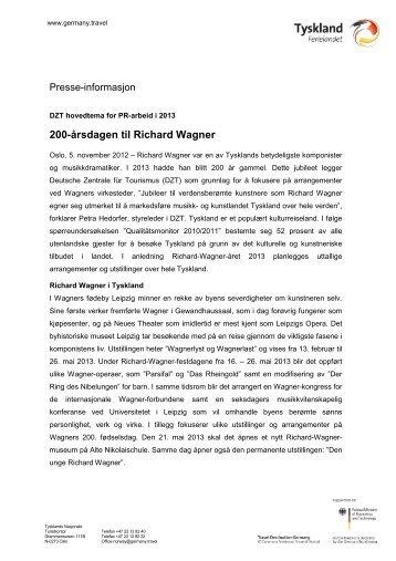 200-Ã¥rsdagen til Richard Wagner - Germany Travel