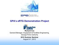 GPA's eRTG Demonstration Project - Electric Power Research Institute