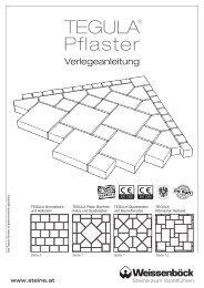 TEGULA® Pflaster - Weissenböck