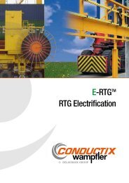 E-RTGTM RTG Electrification - Conductix-Wampfler
