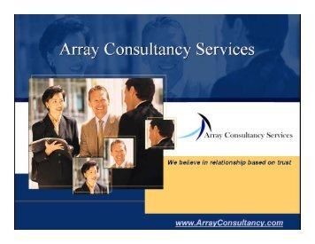 There's nothing like home food - Array Consultancy Services