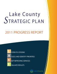2011 Strategic Plan: Progress Report - Lake County, Illinois