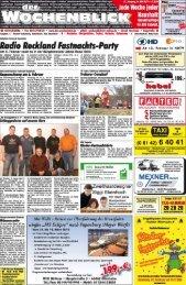 Lokales Vereinsnechrichten Geschäftsmitteiiungen ... - Wochenblick