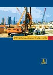BAUER Aktiengesellschaft Geschäftsbericht 2004 - BAUER Gruppe