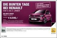 DIE BUNTEN TAGE BEI RENAULT - bei Renault Liesing!