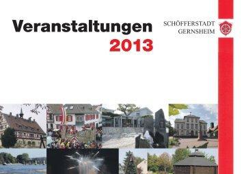 veranstaltungskalender gernsheim 2013.indd - in Gernsheim