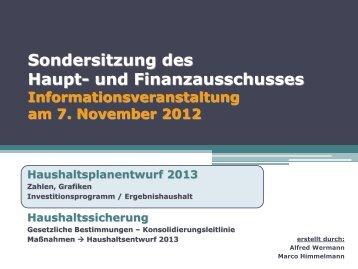 Haushaltssicherung - Stadt Gernsheim