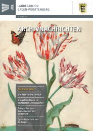 Archivnachrichten Nr. 42 - Landesarchiv Baden Württemberg