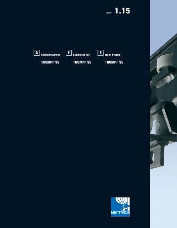 Schienensystem TRUMPF 95 Friction-Drive Antriebe - Gerriets