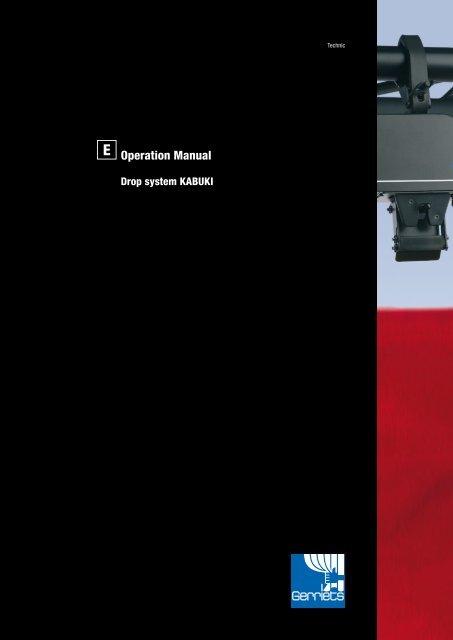 KABUKI G2 Curtain Drop System: Operation manual - Gerriets