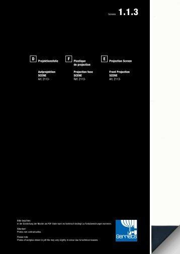 Projektionsfolie Aufprojektion SCENE Art. 2113- Plastique ... - Gerriets