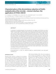 Characterisation of the dissimilatory reduction of Fe(III)oxyhydroxide ...