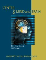 Five-Year Review - Center for Mind and Brain - UC Davis