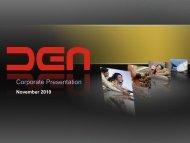 Corporate Presentation - DEN Networks