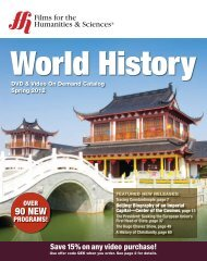 World History - Films for the Humanities and Sciences