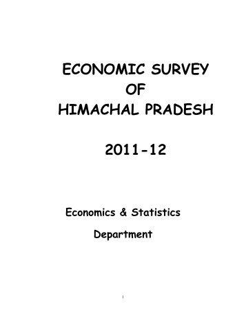 economic survey of himachal pradesh 2011-12 - Government of ...