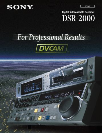 Sony DSR-2000 Manual (PDF) - Westside Media Group