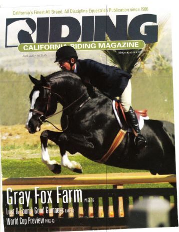 California Riding Magazine - April 2009 - Phelps Media Group