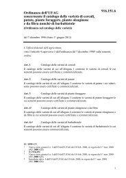 Ordinanza sul catalogo delle varietà - admin.ch